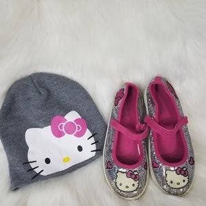Hello Kitty Sequin Mary Janes & Beanie